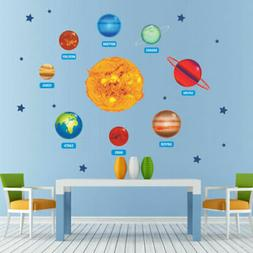 Mystic Outer Space Planet Wall Art Sticker Solar System Rock