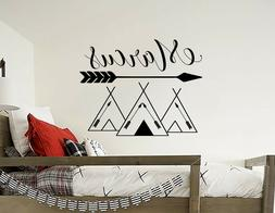 Name Wall Decals Tribal Mountains Decal Mountain Decor Woodl