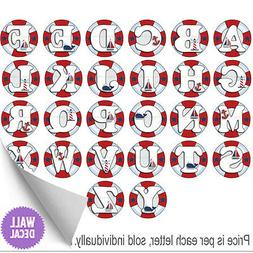 Name Wall Letters Alphabet Stickers Initial Decals Boys Ocea