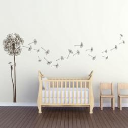 Natural Dandelion Vinyl Wall Decal for baby/kids room, famil
