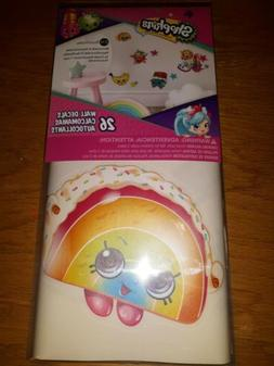 NEW Shopkins 26piece Wall Decals NEW Peel-n-stick Wall Decal