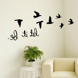 New Arrival Black Flying Birds Wall Sticker For Kids Rooms D