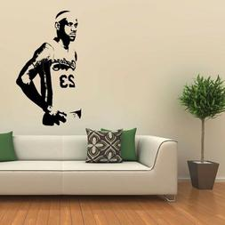 New Basketball Star LeBron James Large Wall Sticker For Kids