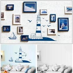 New Sea Tower Sail Boat Sticker Wall Decals For Kids Nursery