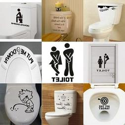 new toilet seat wall sticker vinyl art
