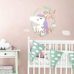 New UNICORN MAGIC GiAnT Wall Decals w/ Glitter Nursery KiDs