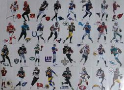 nfl players mini official vinyl wall graphic