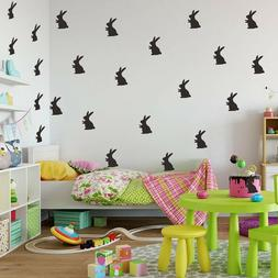 Nice Easter Bunnies Wall Decals Kid Bedroom Peel and Stick R