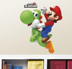 RoomMates Ninetendo - Yoshi/Mario Peel and Stick Giant Wall