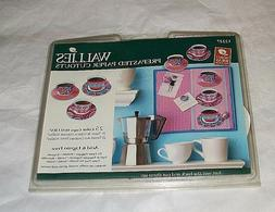 NIP 25 WALLIES Prepasted Paper Cut-Outs 12227 Color TEACUPS