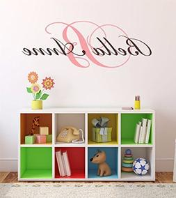 "Nursery Custom Name and Initial Wall Decal Sticker 45"" W by"