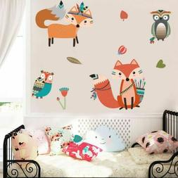 Nursery Kids Room Fox Wild Animal God Tribal Woodland Vinyl