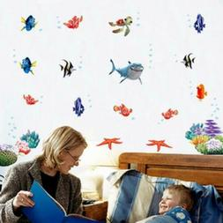 Ocean Fishes Wall Stickers Removable Decals DIY For Nursery