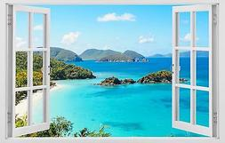 Ocean view islands Tropical wall decals vinyl stickers 3d wi