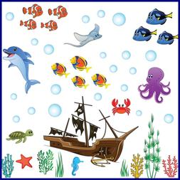 Ocean Wall Decals For Kids Rooms – Under The Sea Fish Deco