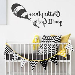 BATTOO Oh The Places You'll Go Nursery Wall Decal - Balloon