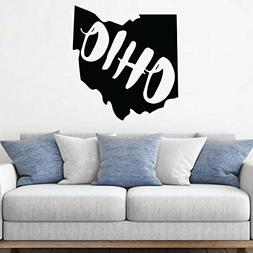 Ohio Wall Decal - State Silhouette Vinyl Art for Home Decor,