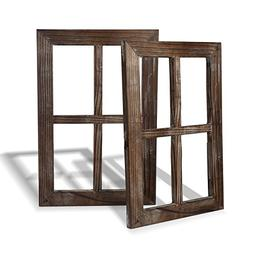 Cade Rustic Wall Decor Window Barnwood Frames -Decoration fo