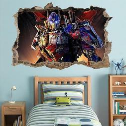 Optimus Prime Transformers Smashed Wall Decal Graphic Sticke