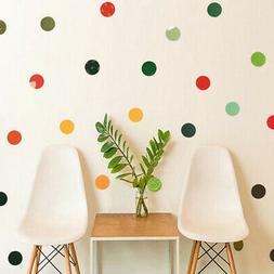 Originality Diy Colored Dots Wall Sticker For Kids Bedroom M