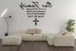 Our Family  quote  Vinyl Wall Decals