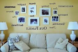 OUR FAMILY Vinyl Lettering Words Wall Art Quote Sticky Decal