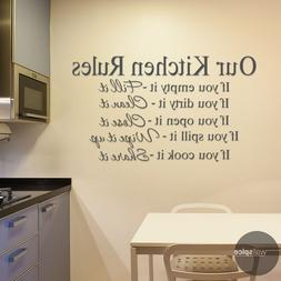 Our Kitchen Rules Vinyl Wall Decal Sticker