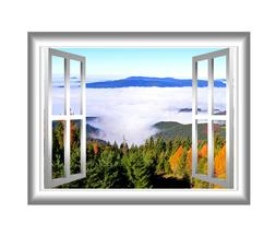 VWAQ Outdoors Wall Decor 3D Forest Wall Decals Peel and Stic