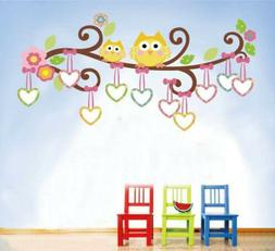 Owl Tree Branch Wall Decals Baby Nursery Removable Stickers