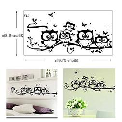 Owl Wall Stickers, G-real Vinyl Art Decal Cartoon Owl Butter