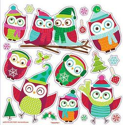 OWLS dressed for winter wall stickers 20 cute decal Christma