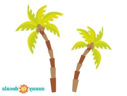 Palm Tree Fabric Wall Decals, Comes with 2 Palm Trees, Safar