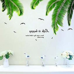 iwallsticker Palm Tree Wall Decals Wall Stickers for Kids Ro