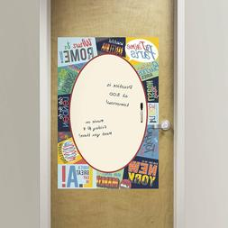 Wall Pops Passport Giant Message Board DRY ERASE Peel and St