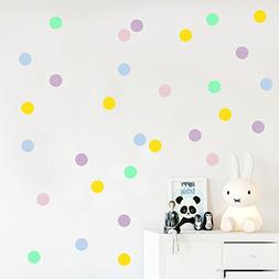 Pastel polka dot wall decals, Dots stickers, Confetti decor,