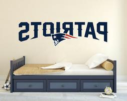 """Patriots Football Logo-Wall Decal Sticker Removable Wide 20"""""""