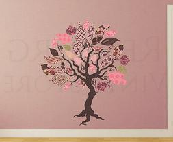 Patterned Tree Wall Decal Sticker Fabric Art Nursery Baby Vi