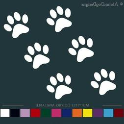 PAW PRINTS STICKERS  decals cat dog pets vehicle window wall