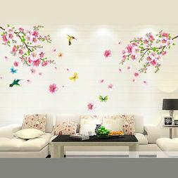 peach blossom butterfly wallpaper diy wall decals