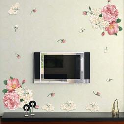 peony Flower Sticker Wall Decals For Kid Room Bedroom Living