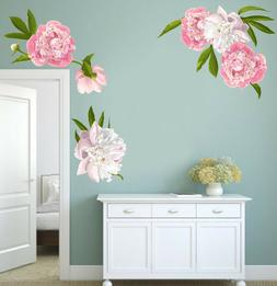 Peony Wall Decals - Floral Decals - Peonies Wall Art