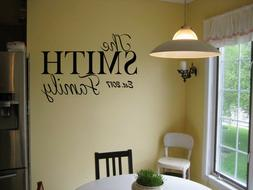 PERSONALIZED FAMILY NAME EST. VINYL WALL ART DECAL LETTERING