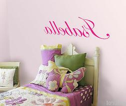 PERSONALIZED GIRL NAME VINYL WALL DECAL STICKER FOR KIDS ROO