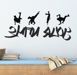 Personalized Graffiti Street Dance,Hip Hop Wall Decals Remov