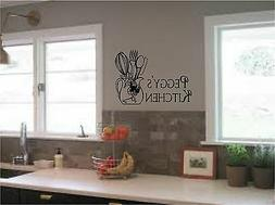 Personalized Kitchen Sign Wall Stickers Wall Art Vinyl Decal