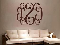 Personalized Monogram Initials Wall Decal Stickers Removable