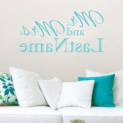 Personalized Mr. & Mrs. wedding/anniversary wall decal
