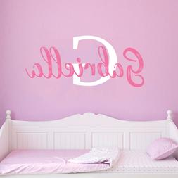 Personalized Name and Initial 2 Wall Decal Sticker For Boys