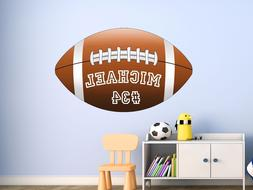 VWAQ Personalized Name Football Wall Decals For Kids Room Sp