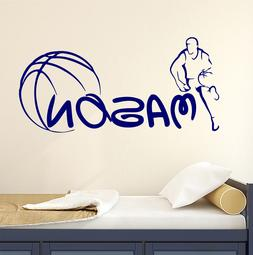 Personalized Name Wall Decal Sport Decals Basketball Boy Roo